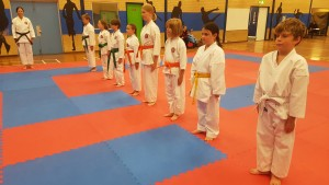 Junior students class ready to commence