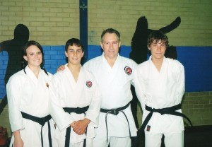 Group 2008 New Black Belts Kasey Kane Steve Wade
